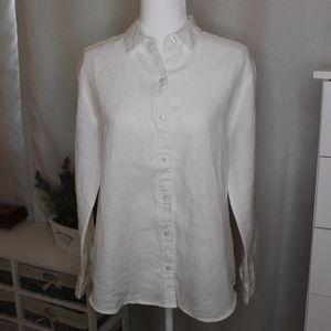 Tommy Bahamma White Linen Boyfriend Shirt